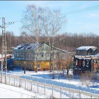 Ногинск. Дома у железной дороги, Ногинск