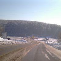 на подъезде к мосту через Оку, Озеры
