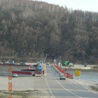 Пантонный мост через р.Ока около г.Озера, Озеры