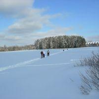 Лыжная трасса через озеро Лесное, Опалиха