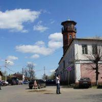 Бывшая улица Успенская, пожарная каланча, Павловский Посад