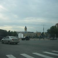 Lenin Place and Podolsk clock tower, Подольск