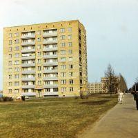 Пущино весной 1985, дом АБ-1., Пущино