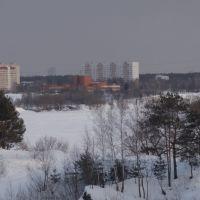 Рублево с М9. Rublevo. View with road M9, Рублево