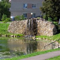 Водопадик на пруду, Руза