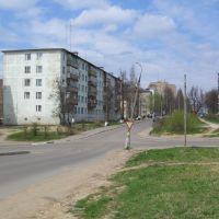 Перекрёсток Ульяновской и Революционной улиц (Вид на север) / Crossroads of Ulyanovskaya and Revolutionaya Streets (View on North), Руза