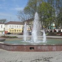 Фонтан на площади Партизан (Вид с востока) / Fountain on Guerrilla Square (View from East), Руза