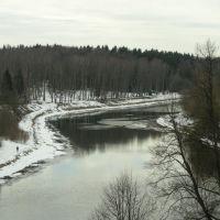 River runs through Ruza, Руза