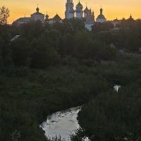 г. Сергиев Посад, вид на Свято-Троицкую Сергиеву Лавру.., Сергиев Посад