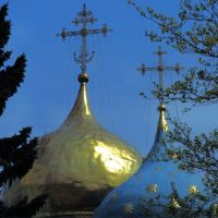 cúpulas bizantinas en la iglesia de la Asuncion en Zagorsk-1987, Сергиев Посад