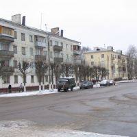 Serpukhov, buildings near city hall, Серпухов
