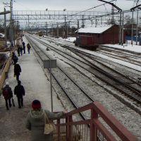 Podsolnechnaya station, pedestrian overpass, Солнечногорск