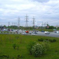 Вид с перекрёстка Боровского ш. и МКАД на северо-запад Москвы, Солнцево