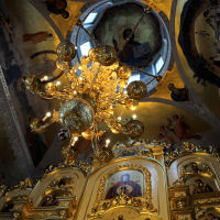 When Lights Are On - Interior of Seraphim Sarovsky Church in Sofrino Factory, Софрино