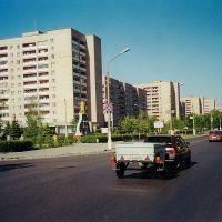 В современной части улицы Андропова  /  In a modern part of Andropov street, Ступино