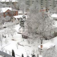 Сходня. ул. Чапаева. Зима, Сходня