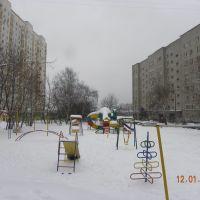 дворик зимой, Томилино