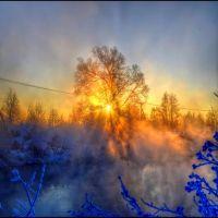 Frosty december dawn, Томилино