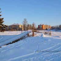 Висячий пешеходный мост через реку Москва, Тучково, Тучково