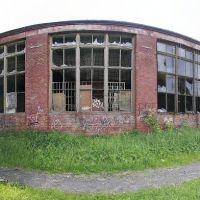 Спотрзал бывшей школы №1. Панорама. 12.06.2010, Фрязино