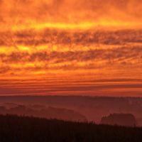 Orange sunset - Оранжевый закат возле Белой горы, Хорлово