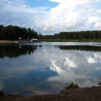 Отражения облаков. Южное озеро., Черноголовка