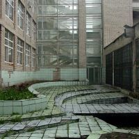 Courtyard in Chernogolovka, Черноголовка