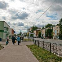 Шатура; с пересечения проспекта Ильича и улицы Школьной в сторону автостанции, Шатура