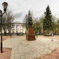 Щёлково. Памятник Пушкину у ДК 05.05.2010. Панорама 360, Щелково