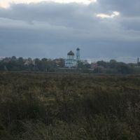 Вид на Покровскую церковь в селе Покров, Щербинка