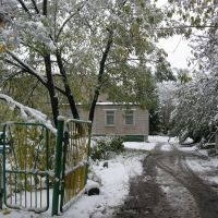 Snow in autumn, Электросталь