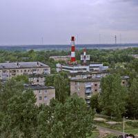 Вид с 12-этажки в направлении угла улиц Советская-Маяковского, Электроугли