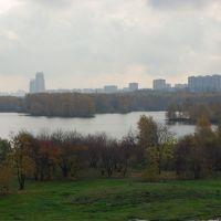 Вид на Строгинскую пойму Москва-реки, город / View of the Stroginskaya flood-lands of the Moskva river and the city (21/10/2007), Байконур