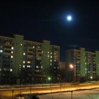 ул Победы ночью, Краснознаменск