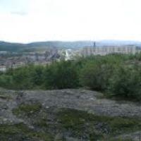 Вид  с сопки. 2010 г., Заозерск