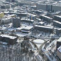 Центр города с высоты, Апатиты