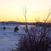 Нива зимой, Кандалакша