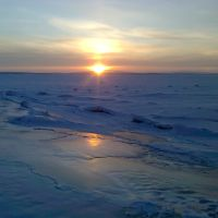 White Sea sunset, Кандалакша