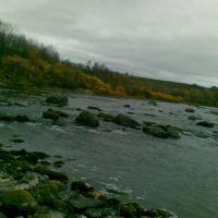Река Кола. Осень, Кола