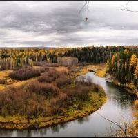 Река Серга осенью, Конда