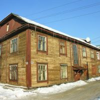 Оld wooden house on the Profsoyuzov street, Мурманск