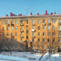Building on Rybny street-side, Мурманск