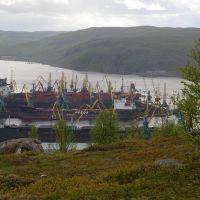 Вид на торговый порт, Кольский залив и сопки / View of the trading port and the Kola bay and knolls (10/06/2007), Мурманск