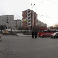 Панорама Мурманска. Проспект Ленина - Panorama of Murmansk. Lenin Avenue, Мурманск