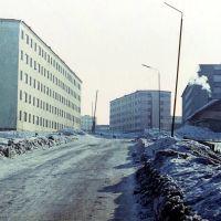 Улица Позднякова в 1974 году., Мурмаши