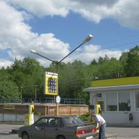 Gas station just before the Murmashi, Мурмаши