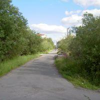 Улица Кайкова летом 2005 года., Мурмаши