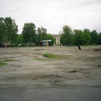 Пустырь в районе площади. 2002 г., Мурмаши