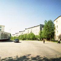 2002 год. Перекресток улиц Цесарского и Позднякова. Фото А.И. Стец, Мурмаши