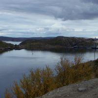 вид на Екатерининский остров и гавань, Полярный